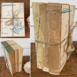 Shabby Chic Vintage Book Decor Unbound Tied Bundle